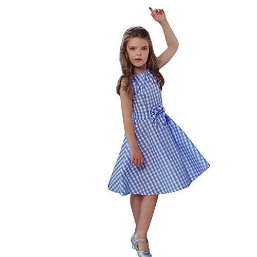 Franterd Family Matching Dress Mommy &Me Girls Women Plaid Print Bowknot Zipper Dress Parent-Child Matching Outfit