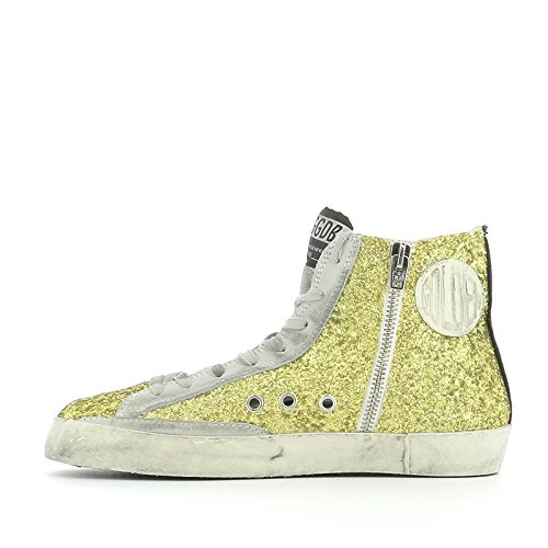 Golden Goose Hi Top Sneakers Donna G29WS591A40 Glitter Giallo