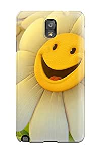 New BayyKck Super Strong Happy Flower Tpu Case Cover For Galaxy Note 3