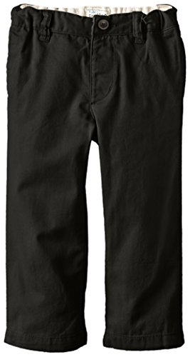The Children's Place Little Boys and Toddler Chino Pant, Black, 4T (Boys Dress Twill Pant)
