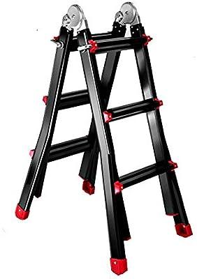 Escalera Escaleras de mano multifunción de aluminio, multi-uso de las escaleras, de 300 libras Deber de Calificación, diseño libre de la instalación (1.7 * 1.7M): Amazon.es: Bricolaje y herramientas