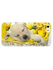 3d Full Wrap Case for iPhone 5/5s Animal Golden Retriever Puppy Sleeping In A Basket hjbrhga1544