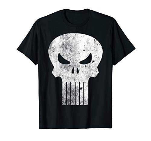Marvel The Punisher Classic Retro Skull Logo Graphic T-Shirt