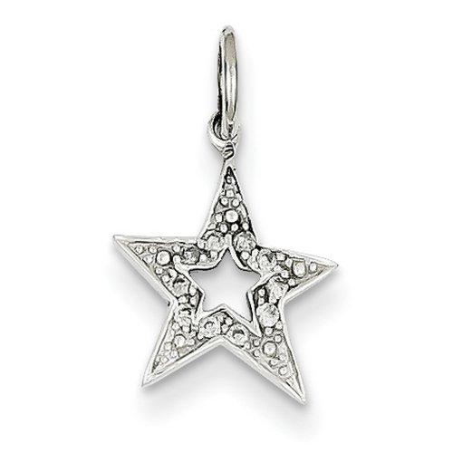 Icecarats Créatrice De Bijoux Or Blanc 14K Charm Diamond Étoiles