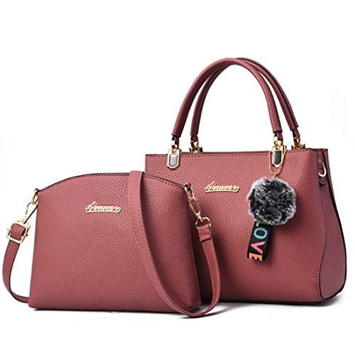 Purse colore Satchel pezzi Borsa Set Tote Bags viola Handle Shell Travel tracolla Top scuro Rosa a Women 2 Magai BqZFxzwHF
