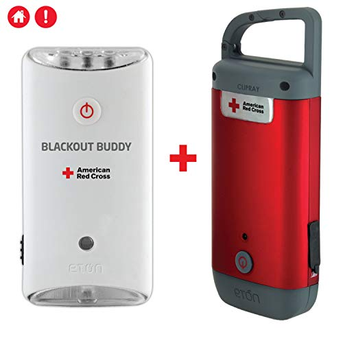 American Red Cross Emergency Light Set with Clipray & Blackout Buddy