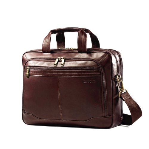 Samsonite Colombian Leather Toploader, Brown, One Size by Samsonite