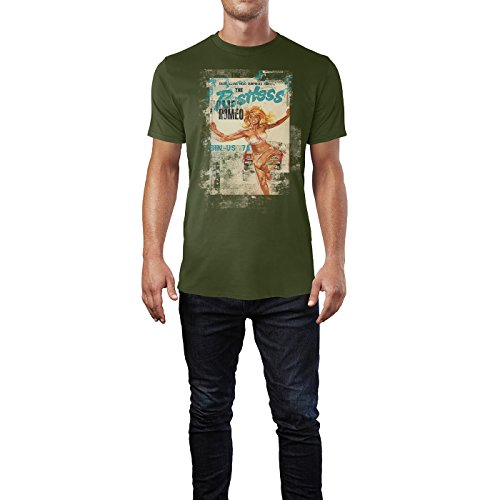 SINUS ART® The Restless Romeo Herren T-Shirts Armee grünes Cooles Fun Shirt mit tollen Aufdruck