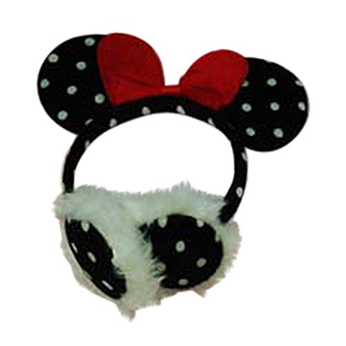[Polka Dot Minnie Mouse Ears Headband Ear Muff Toddler Girls Costume Dressup (Red Bow)] (Crop Over Band Costumes)