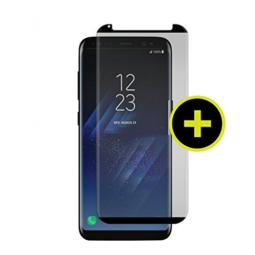 (GADGET GUARD Black ICE Plus Cornice Curved Edition Tempered Glass Screen Guard for Samsung Galaxy S8)