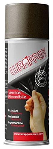 Quattroerre 16449 Wrapper Spray Vernici Rimovibili Tinta Metallizzata, Bronzo Quattroerre Italia