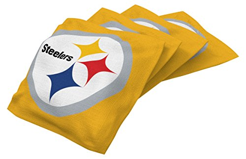 Wild Sports NFL Pittsburgh Steelers Yellow Authentic Cornhole Bean Bag Set (4 Pack)