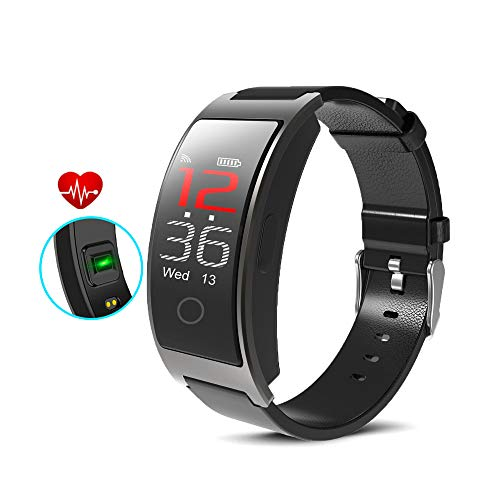 inDigi CX Fitness Activity Tracker & SmartWatch Heart Rate + Blood Pressure + SP02 Sensor - Pedometer - Push Notifications (SMS) & Call Alert (IP67 Waterproof)