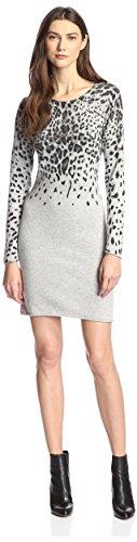 Sweater Multi James Grey Snow Leopard Dress Erin Cashmere Print amp; Women's FnFv0x
