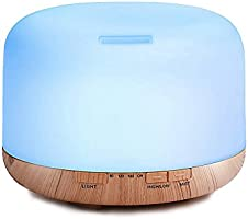 Decdeal 500ml Ultrasónico Humidificador de Aire Esencial de Difusor de Aceite Aromaterapia Difusor de Aroma Fabricante de...