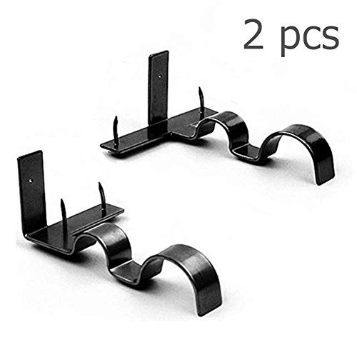 (SITELLY Adjustable Curtain Rod Brackets,Kwik Hang Set Window Curtain Drapery Rod for Bedroom Decoration,Set of)