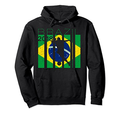 Unisex Brazil Football Jersey Brazilian Soccer Hoodie Large ()