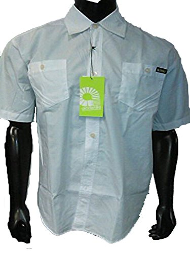 akademiks men's buttondown ren woven casual shirt white size:large