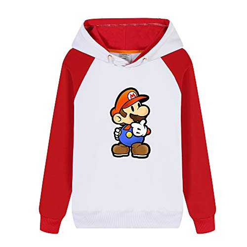 Hiver Hoodies Mario Aivosen Super Pour shirts Longues Hommes Femmes Sweat Mode Unisex Chaud Red26 Pullover Manches Et wCHXqS