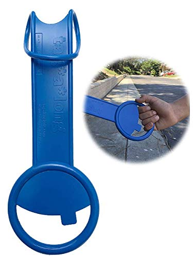 (tagalong Handle Stroller Accessory: Keep Kids Close! Provides Fun Spot for Little Hands and Supports Their Independence. Works on Almost Any Stroller as Well as Shopping Carts and More! (Blue))