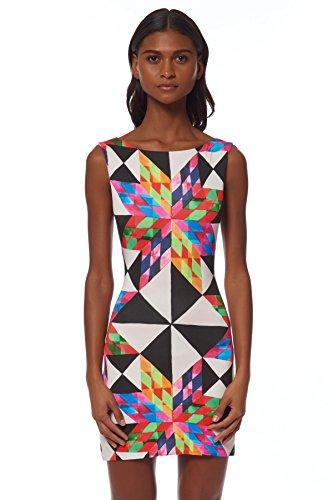 Mara Hoffman Women's Fractals Cut Out Back Mini Dress, Peach Multi, X-Small