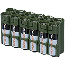 Storacell by Powerpax AA Battery Caddy, Military Green, Holds 12 Batteries