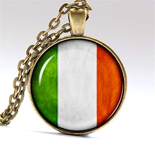 (Gimax Italia Jewelry Italian Pendant Rome Necklace Italy Flag - (Metal Color: Silver)