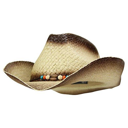 Urban Boundaries Shapeable Straw Cowboy/Cowgirl Hat (Natural)