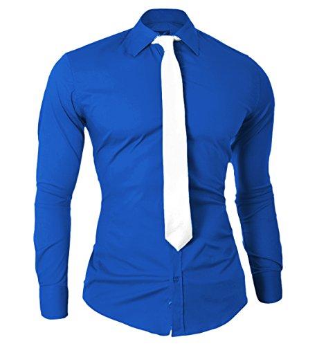 Camicia Moda Italiana Design D&R Fashion con il legame Slim Fit per il partito e riunioni
