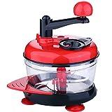 Manual Food Chopper Hand Crank Mincer Skyee 3.2-Cup/800ml Hand Crank Food Processor/Meat Grinder/Vegetable Dicer And Mincer/Fruit Blender With Egg Separator