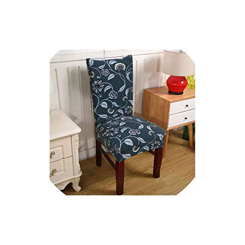 pleasantlyday Elastic Printing Dining Chair Slipcover Modern Removable Kitchen Seat Case Stretch Chair Cover,019,Universal Size (Patio Me Furniture Near Repair)