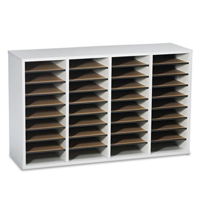 Wood 36 Compartment Mail Sorter - 5