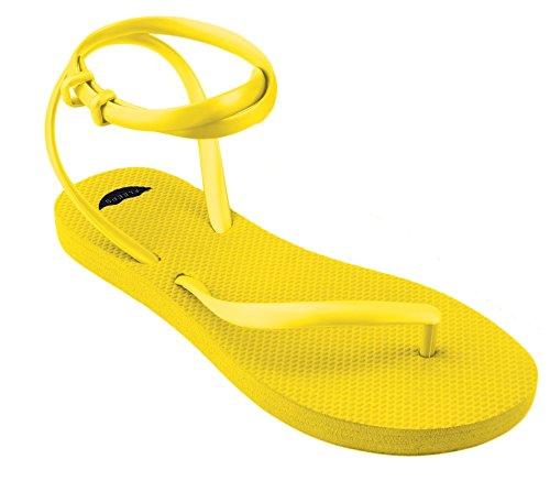FLEEPS Women's Sunny Yellow Sandals 6 (Yellow Gold Footwear)