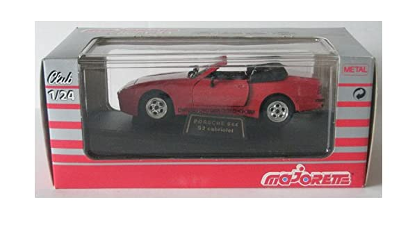 Amazon.com: Majorette Club 1/24 Scale Red Porsche 944 S2 Cabriolet: Toys & Games