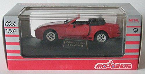 Majorette Club 1/24 Scale Red Porsche 944 S2 Cabriolet