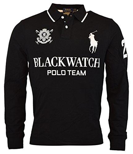 Polo Ralph Lauren Black Watch (Polo Ralph Lauren Men's Blackwatch Big Pony Custom Fit Polo Shirt (L, Black))