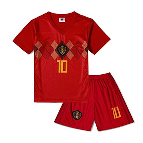 1c1199559 Sykdybz Belgian Jersey Children s Soccer Clothing Suit 2018 Fans Football  Clothes Primary School Boys and Girls Gifts