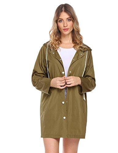 Lantusi Women Packable Lightweight Raincoat Active Outdoor Rainwear With Hood ()