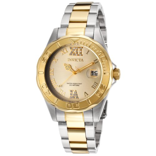 Invicta Women s 14351 Pro Diver Analog Display Japanese Quartz Two Tone Watch