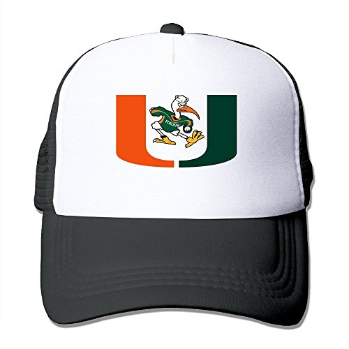 MVIKI Adult University Of Miami Hip Hop Snapback Hat Black