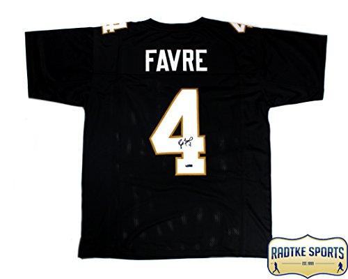 Brett Favre Autographed/Signed Southern Miss Black Custom Jersey -