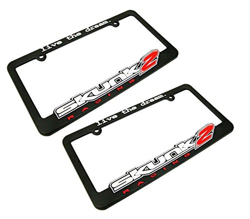 2 x Skunk2 Racing License Plate Frame - Live The Dream Universal For ()