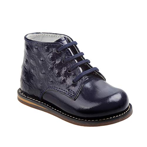 Josmo 2-8 Patent Ostrich Walking Shoes (Navy Patent Ostrich, 2)