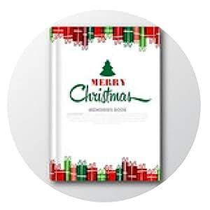 alfombrilla de ratón Cubierta de libro de Navidad o plantilla de volante, vector - ronda - 20cm