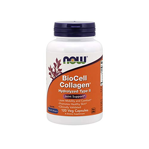 Now Supplements, BioCell Collagen® Hydrolyzed Type II, Clinically Validated, 120 Veg ()