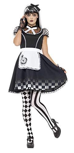 Smiffys Women's Gothic Alice Costume, Black, Large -