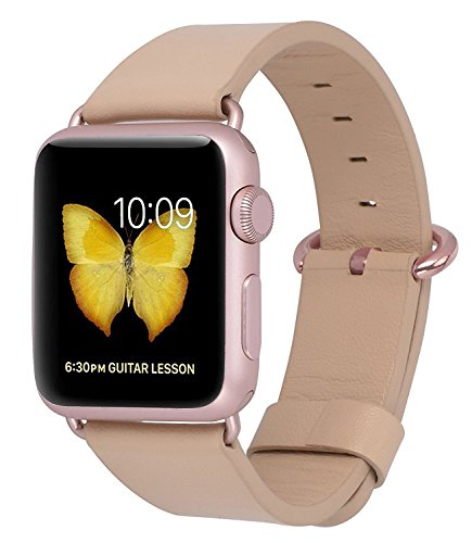 JSGJMY Genuine Leather Replacement Iwatch