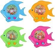 Balacoo 4Pcs Handheld Water Game Fish Shaped Water Toss Ring Toys Water Ring Game Handheld Water Ring Toys Min
