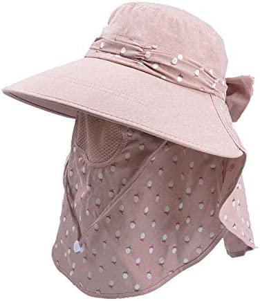 Red Sun Hat For Women Summer Outdoor Sun Protection Fishing Cap Neck Face Flap Hat Wide Brim Hat By Sagton