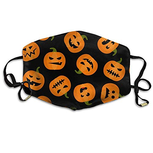 SOADV Mouth Masks Unisex Halloween Pumpkin Adorable Anti Germs Mouth-Muffle Masks Mouth Face Mask -
